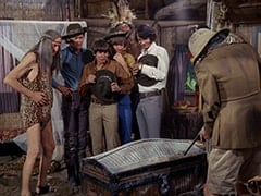 Kimba (Burt Mustin), Micky Dolenz, Davy Jones, Peter Tork, Thursday (Rupert Crosse), Mike Nesmith, Pshaw (Monte Landis)