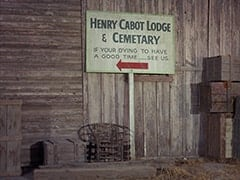 Henry Cabot Lodge & Cemetary / If your dying to have a good time — see us
