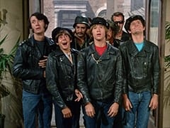 Mike Nesmith, Davy Jones, Big Frank (?), Peter Tork, Butch (Norman Grabowski), Big Neil (?), Micky Dolenz