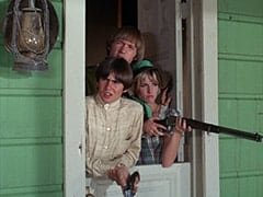 Davy Jones, Peter Tork, Cousin Lucy (Bonnie Dewberry)