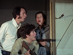 Mike Nesmith, Micky Dolenz, Aunt Kate Nesmith (Jacqueline De Wit)