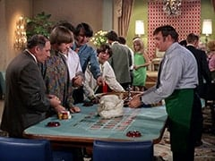 Biggy (Pepper Davis), Peter Tork, Mike Nesmith, Davy Jones, Manager (Rip Taylor)
