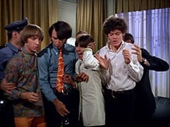 Casino Cop (?), Peter Tork, Mike Nesmith, Davy Jones, Micky Dolenz