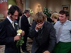 Mike Nesmith, Peter Tork, Manager (Rip Taylor)