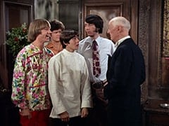 Peter Tork, Micky Dolenz, Davy Jones, Mike Nesmith, Butler (Burt Mustin)