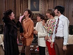 Mrs. Vandersnoot (Jeanne Sorel), Micky Dolenz, Davy Jones, Peter Tork, Mike Nesmith