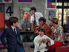 Melvin (Butch Patrick), Mr. Schneider, Mike Nesmith, Micky Dolenz, Davy Jones, Peter Tork