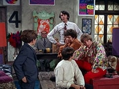 Melvin (Butch Patrick), Mr. Schneider, Mike Nesmith, Davy Jones, Micky Dolenz, Peter Tork