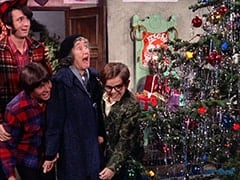 Mike Nesmith, Davy Jones, Christmas Tree Woman (?), Melvin (Butch Patrick)