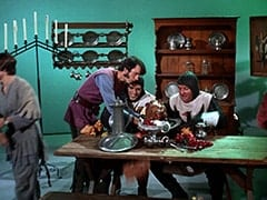 Davy Jones, Mike Nesmith, Harold (Murray Roman), Richard (John Lawrence)