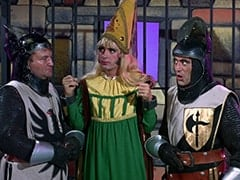 Richard (John Lawrence), Princess Gwen (Mike Nesmith), Harold (Murray Roman)