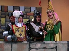 Richard (John Lawrence), Peter Tork, Harold (Murray Roman), Princess Gwen (Mike Nesmith)