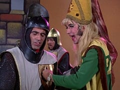 Harold (Murray Roman), Horseman #1 (Ric Klein), Princess Gwen (Mike Nesmith)