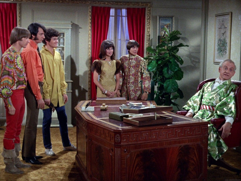Peter Tork, Mike Nesmith, Micky Dolenz, Daughter (Merri Ashley), Davy  Jones, Mendrek (Hans Conried)