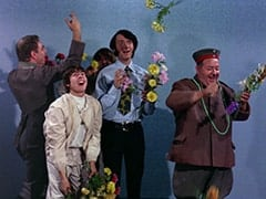 Baron Von Klutz (David Hurst), Davy Jones, Peter Tork, Mike Nesmith, Wolfgang (Stubby Kaye)