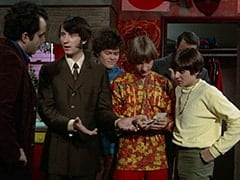 Jim (James Frawley), Mike Nesmith, Micky Dolenz, Peter Tork, Artie (?), Davy Jones