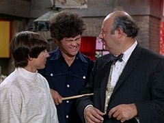 Davy Jones, Micky Dolenz, Mr. Friar (Laurie Main)