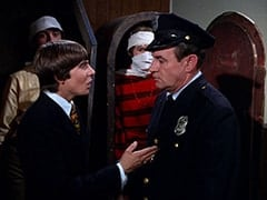 Mike Nesmith, Davy Jones, Peter Tork, Customs Man (Jack H. Williams)