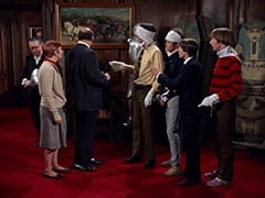 Butler (Reginald Gardiner), Mary Friar (Myra De Groot), Mr. Friar (Laurie Main), Mike Nesmith, Micky Dolenz, Davy Jones, Peter Tork