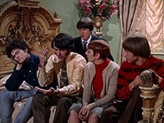 Micky Dolenz, Mike Nesmith, Davy Jones, Mary Friar (Myra De Groot), Peter Tork
