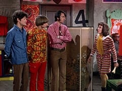 Micky Dolenz, Peter Tork, Mike Nesmith, Miss Jones (Davy Jones), Mr. Schneider