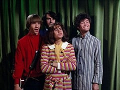 Peter Tork, Mike Nesmith, Miss Jones (Davy Jones), Micky Dolenz