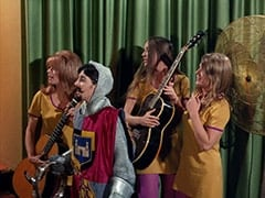 Maxine (Sharon Cintron), William the Conquerer (Deana Martin), West Minstrel Abbey Guitarist (?), West Minstrel Abbey Drummer (Valerie Kairys)