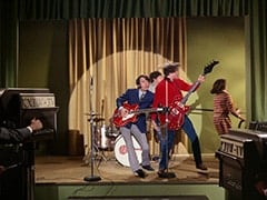 Mike Nesmith, Micky Dolenz, Peter Tork, Miss Jones (Davy Jones)