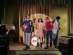 Mike Nesmith, Miss Jones (Davy Jones), Peter Tork, Micky Dolenz