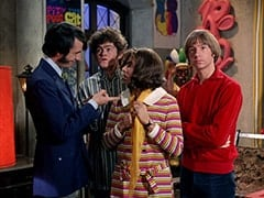 Mike Nesmith, Micky Dolenz, Miss Jones (Davy Jones), Peter Tork