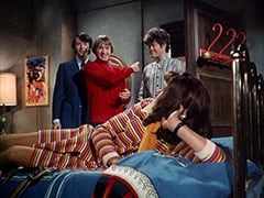 Mike Nesmith, Peter Tork, Micky Dolenz, Miss Jones (Davy Jones)