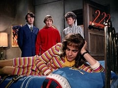 Mike Nesmith, Peter Tork, Miss Jones (Davy Jones), Micky Dolenz