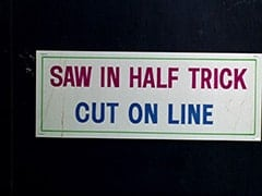 Saw in half trick / Cut on line
