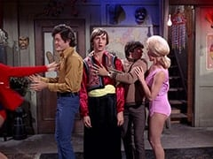 Micky Dolenz, Peter Tork, Davy Jones, Girl in Pink (?)
