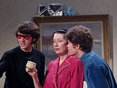 Mike Nesmith, Mrs. Parker (?), Micky Dolenz