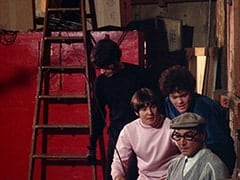 Mike Nesmith, Davy Jones, Micky Dolenz, Stagehand (Jack H. Williams)