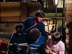 Mike Nesmith, Micky Dolenz, Henchman #2 (David Pearl), Davy Jones