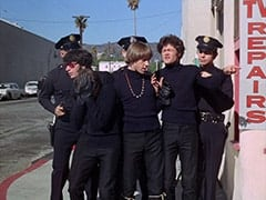 Mike Nesmith, Davy Jones, Peter Tork, Micky Dolenz, Cop (Robert Michaels)