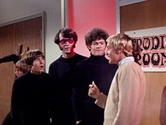 Peter Tork, Davy Jones, Mike Nesmith, Micky Dolenz, Nyles the Neighbor (Nyles Brown)